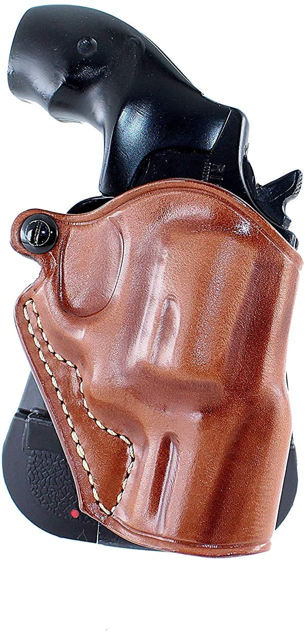 Premium Leather OWB Paddle Holster Open Top Fits Smith Wesson Model 15 38 Special 2