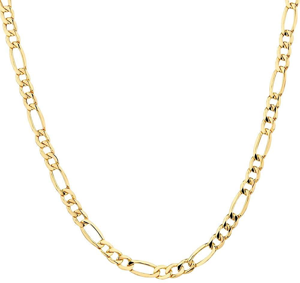 18K Gold Plated Men Figaro Chain 18