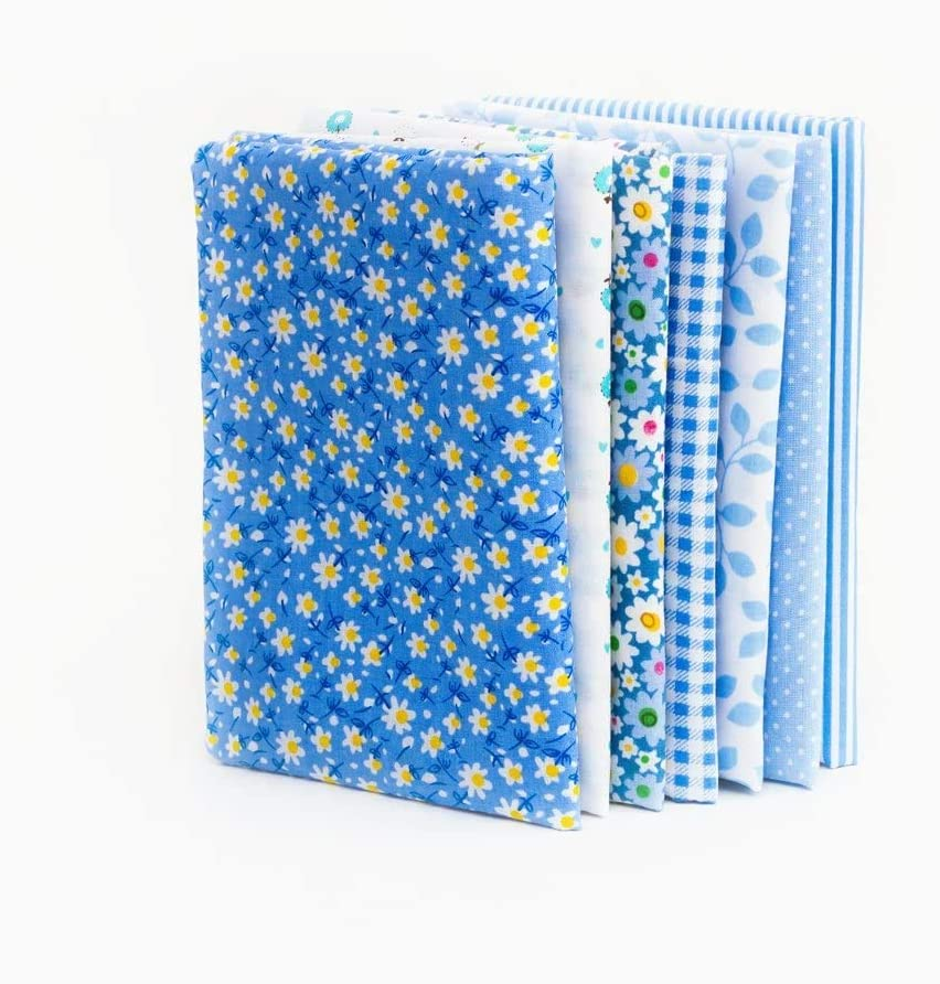 Quilting Fabric, 7Pcs Assorted Cotton Fabric for Sewing Bundle Quilt Quilting Cotton Fabric Sewing DIY Set