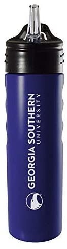 LXG, Inc. Georgia Southern University-24oz. Stainless Steel Grip Water Bottle with Straw-Blue