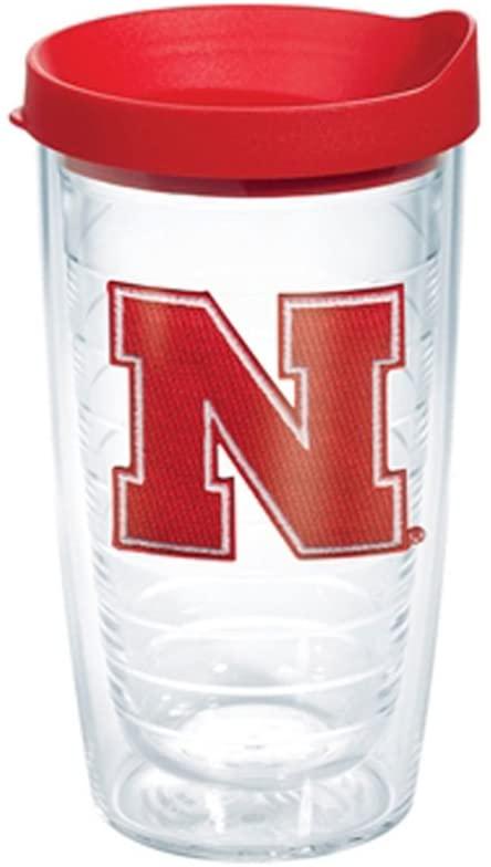 Tervis Tumbler Nebraska Cornhuskers 16 oz with Red Lid