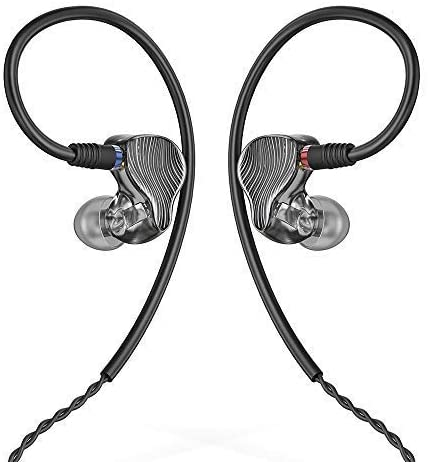 FiiO FA1 Over The Ear Earphones Detachable Cable Design HiFi Single Balanced Armature Driver Earphones for iOS and Android Computer PC Tablet Swirl (Smoke)