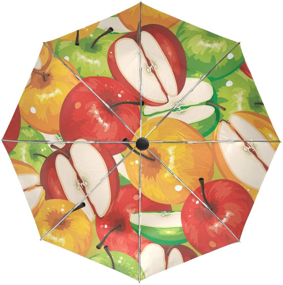 Senuu Colorule Apple Umbrella Large Travel Auto Open Close Sun Blocking Umbrellas for Women Men