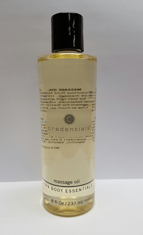 Credentials Massage Oil W/Cucumber, Lavender & Chamomile Extracts 8 oz.