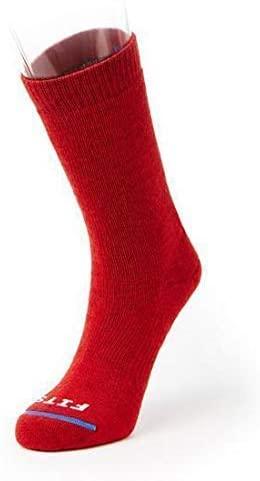 FITS Medium Hiker – Crew: Essential Hiking Socks, Red, XXL