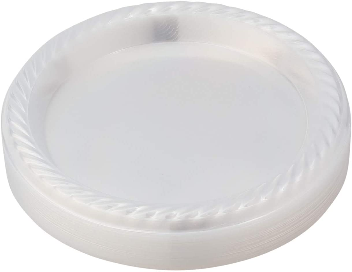 [480 Pack - 7 inch] Clear Plastic Plates, Disposable Clear Cake/Dessert Plates 480 Count, Lightweight Party Plates, Microwaveable Buffet Plates