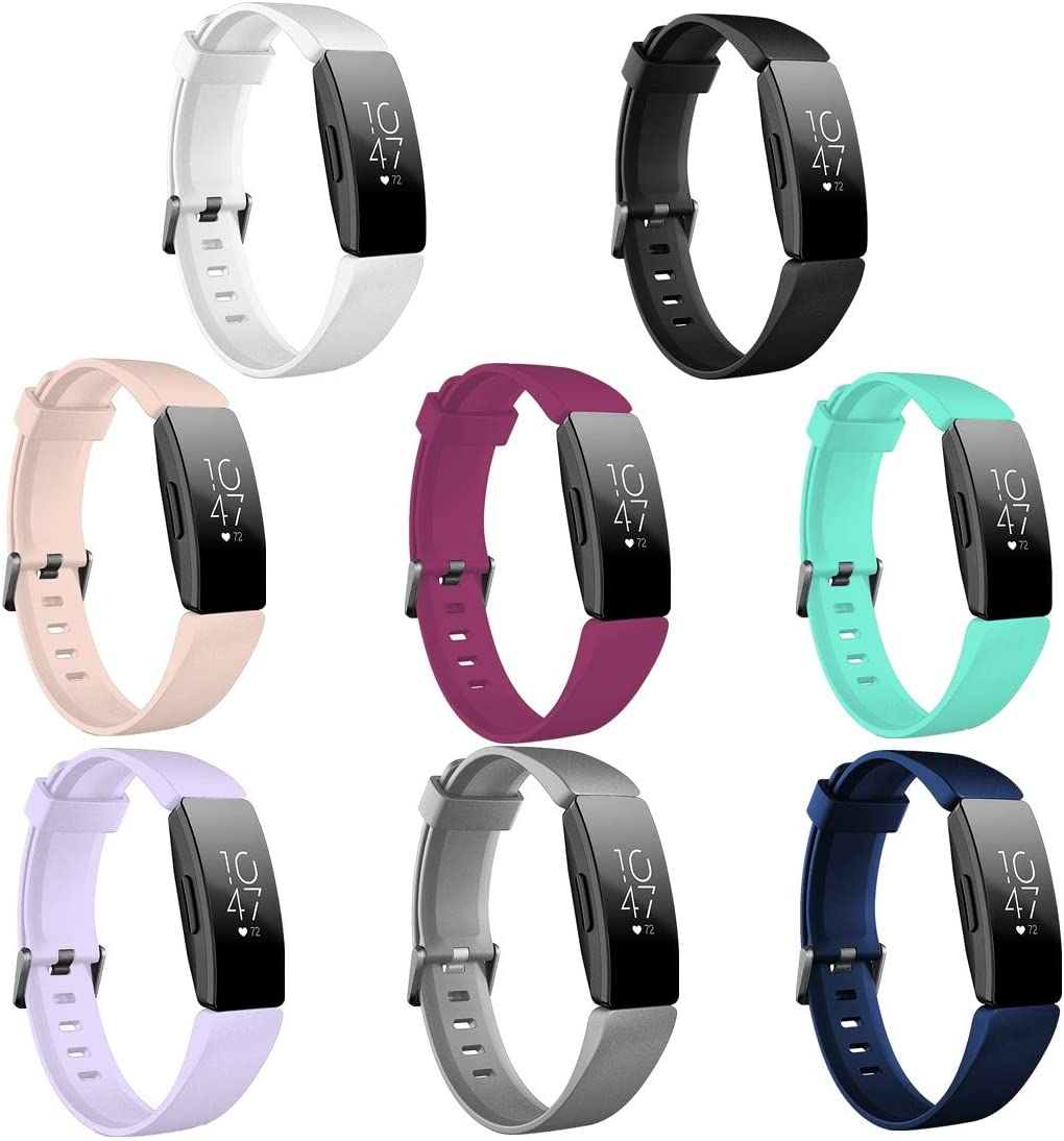 GinCoband 8PCS Inspire HR Bands Replacement for Fitbit Inspire HR/Fitbit Inspire,Comfortable Sport Wristbands for Fitbit Inspire HR Women Men