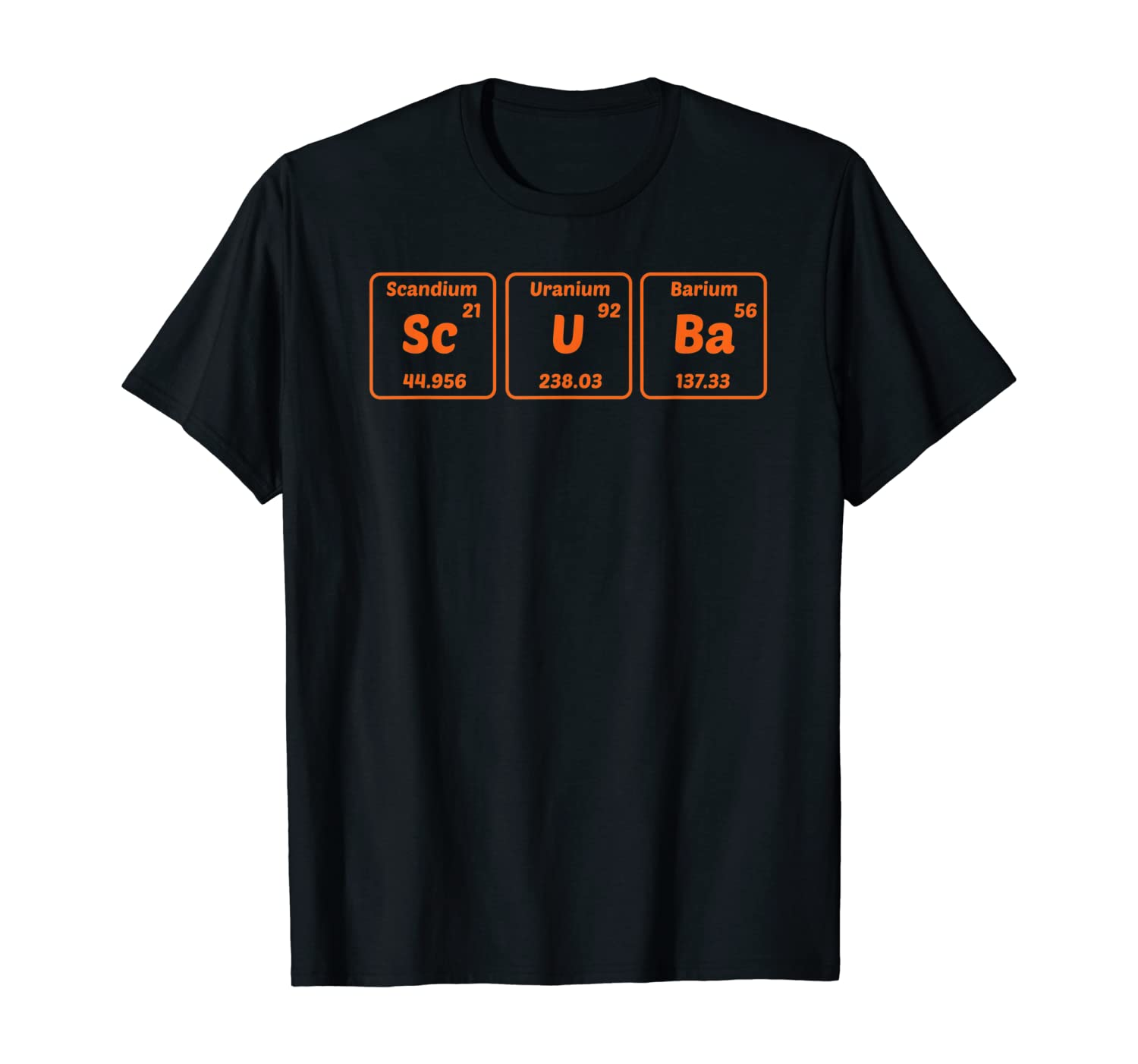 Funny Scuba Diving Periodic Table Of Chemical Elements Diver T-Shirt