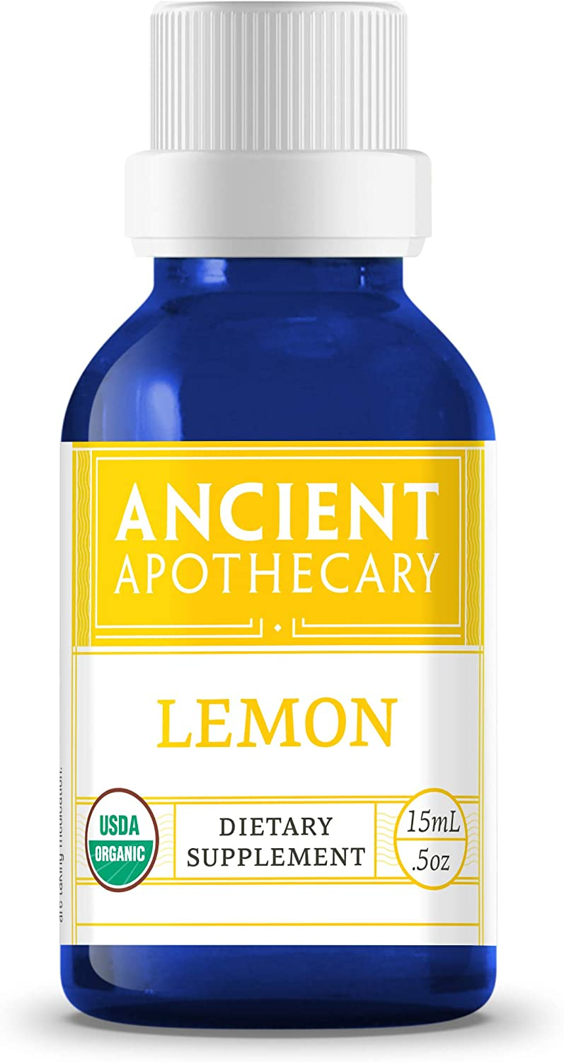 Lemon Organic Essential Oil from Ancient Apothecary, 15 mL - 100% Pure and Therapeutic Grade…