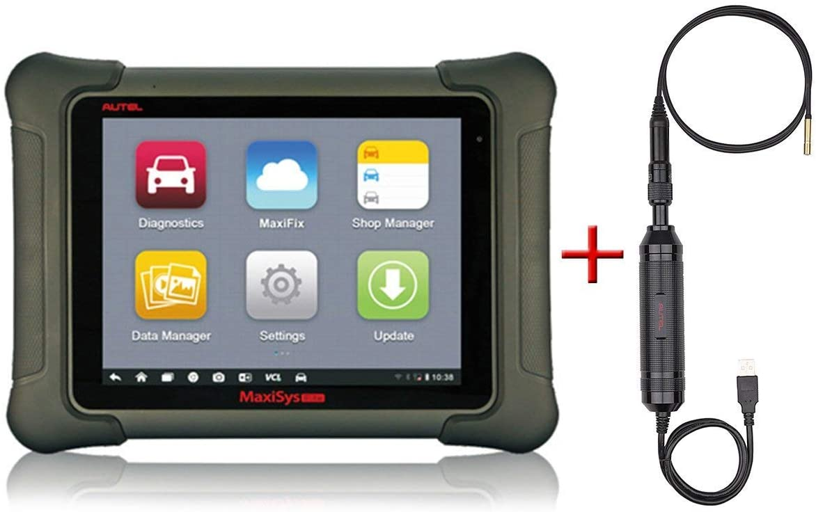 Autel Maxisys Elite & MV105-Diagnostic Scanner with Specific Car ECU Coding& Service and Inspection Video Scope with 2 Years Free Update