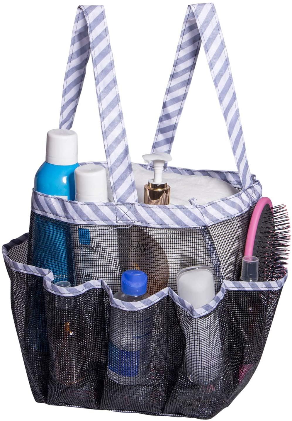 Attmu Portable Mesh Shower Caddy, College Dorm Essentials Bathroom Tote Bag