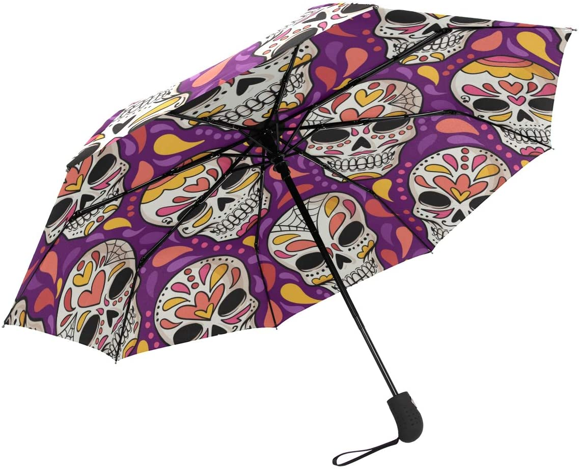 SUSINO Compact Travel Umbrella Automatic Open Close Windproof Folding Umbrellas Portable with Multiple Graphic Pattern for Women Men Teenager