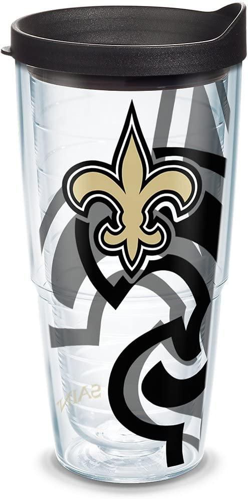 Tervis NFL New Orleans Saints Tumbler With Lid, 24 oz, Clear