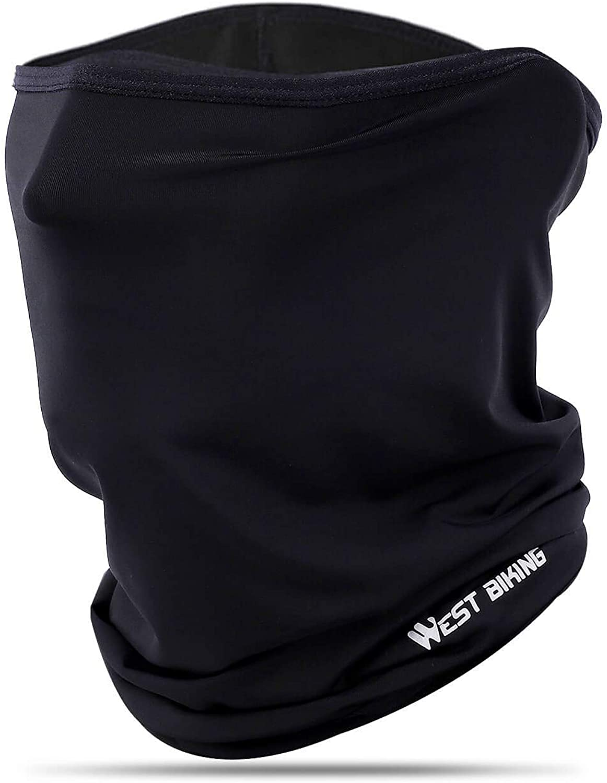 Ice Silk Breathable Balaclava, Versatile Face Mask Neck Gaiter, Riding Running Headwear for UV Wind Dust