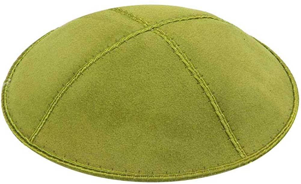Zion Judaica Genuine Suede Kippot Bulk Packs or Single Pieces Free Clips