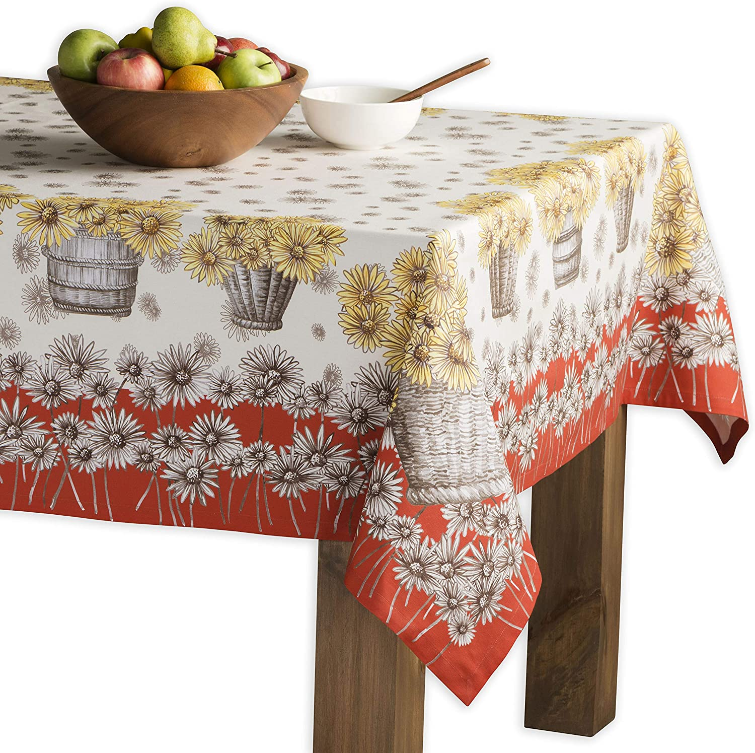 Maison d' Hermine Bagatelle 100% Cotton Tablecloth for Kitchen Dining   Tabletop   Decoration   Parties   Weddings   Thanksgiving/Christmas (Rectangle, 60 Inch by 90 Inch)