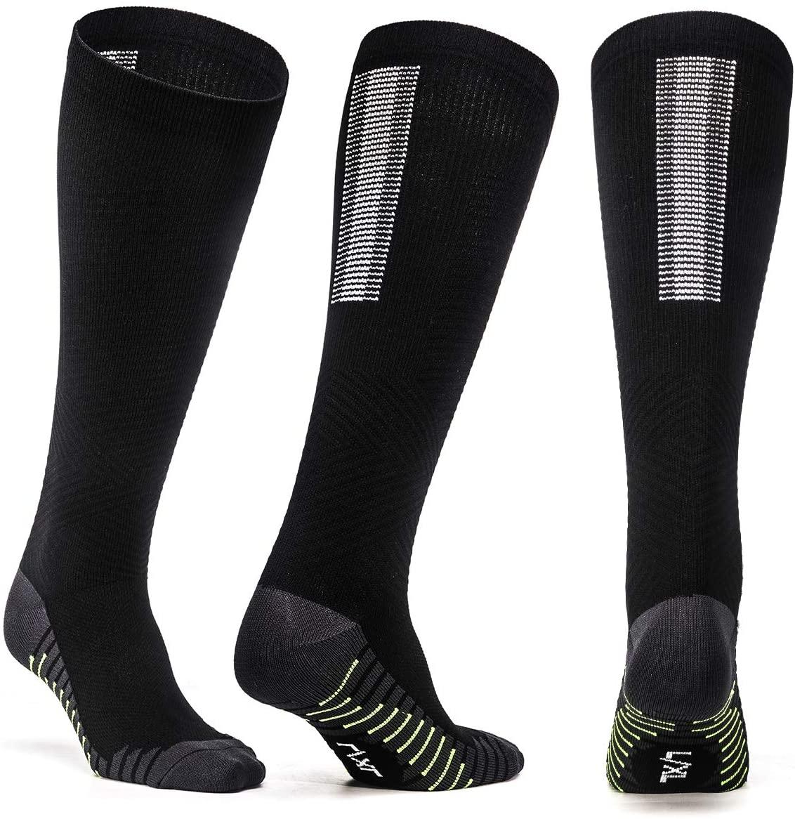 2Pairs Compression Socks for Men and Women 20-30mmHg Fitness Medical Nursing Socks
