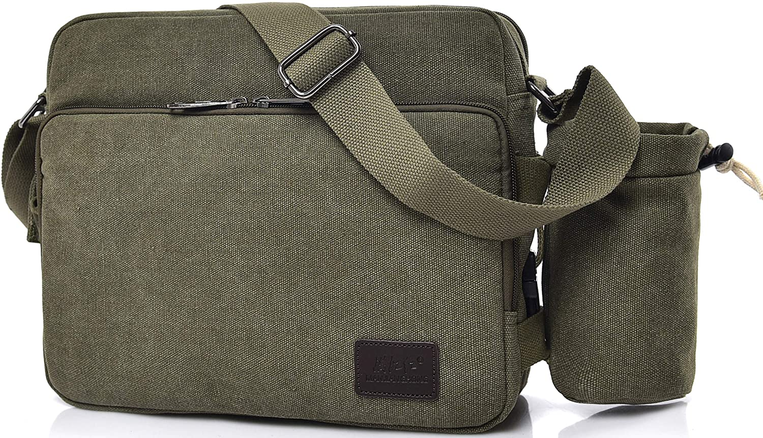 Scioltoo Canvas Messenger Bag,Crossbody Purses and Day Bag for Men and Women