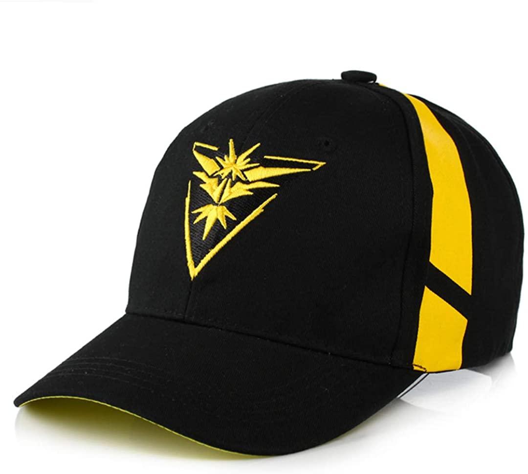 OYSTERBOY Pokemon Go Gym Team Valor/Mystic/Instinct Embroidery Baseball Cap - Curved Brim