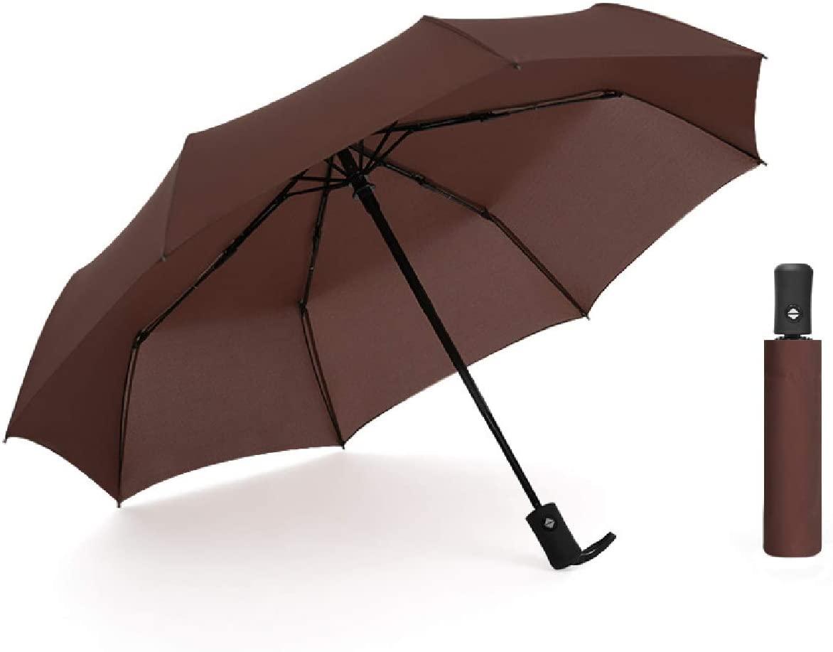 ECOOJ Windproof Travel Umbrella with Teflon Coating