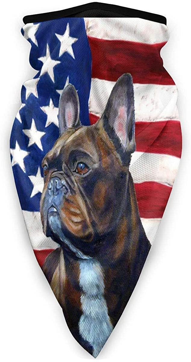 Springer Spanielamerican Flag Dog Windproof Bandana Face Cover Mask Neck Gaiter Scarf Balaclava Scarf Sports