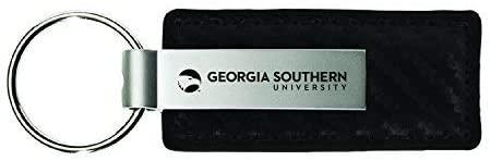 LXG, Inc. Georgia Southern University-Carbon Fiber Leather and Metal Key Tag-Black