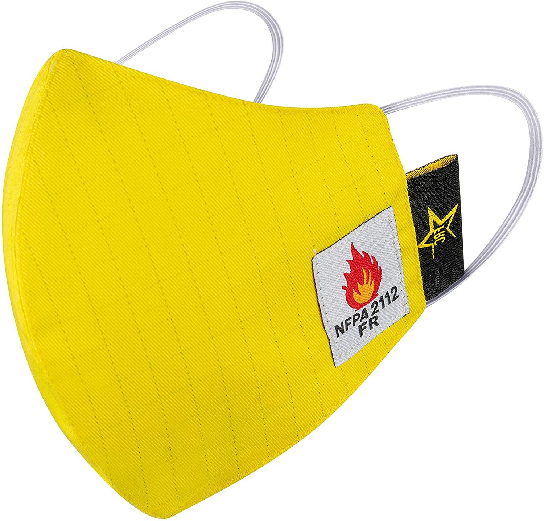 Texas FRC - Mens Flame Retardant Hi-Vis Protective Face Mask - NFPA 2112-100% Cotton Lightweight