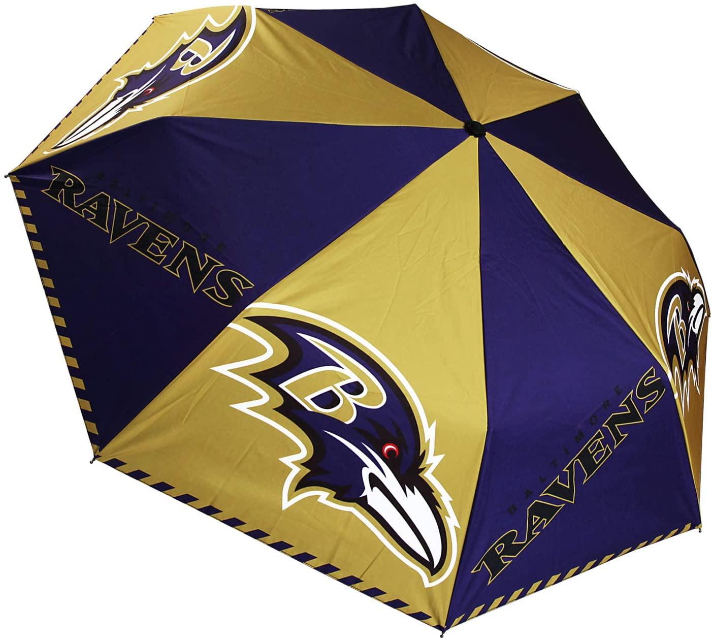 MT-Sports Football Team Folding Umbrella 8 Ribs Anti-UV Sun Waterproof Windproof Straight Travel Small Compact Portable Umbrella for Car Rain Outdoor Use