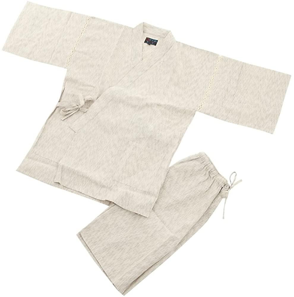 Edoten Men's Japan Kimono Jimbei SIJIRAORI 100% Cotton.