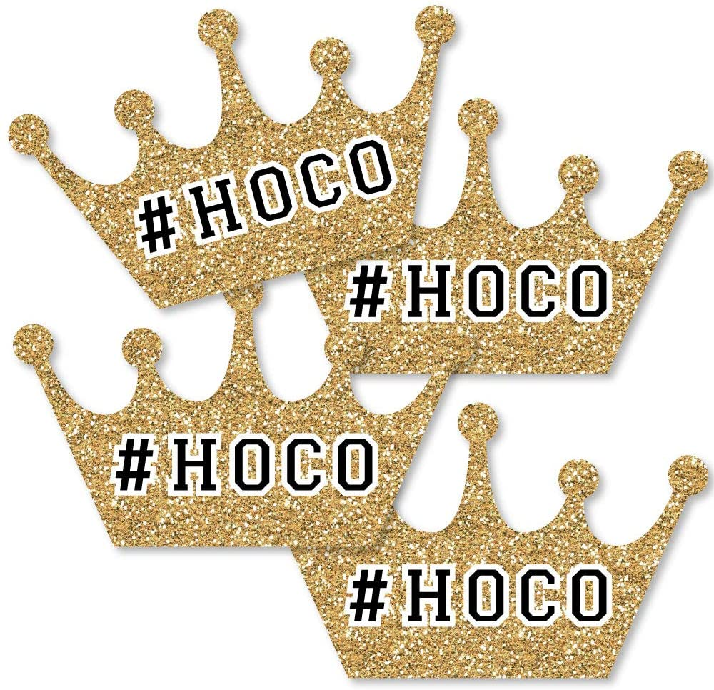 Big Dot of Happiness Hoco Dance - Crown Decorations DIY Homecoming Essentials - Set of 20