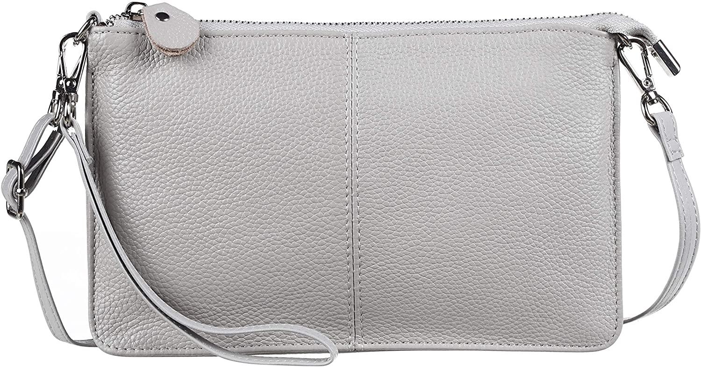 Gostwo Genuine Leather Wristlet Clutch Wallet Purse Small Crossbody Bag for Women