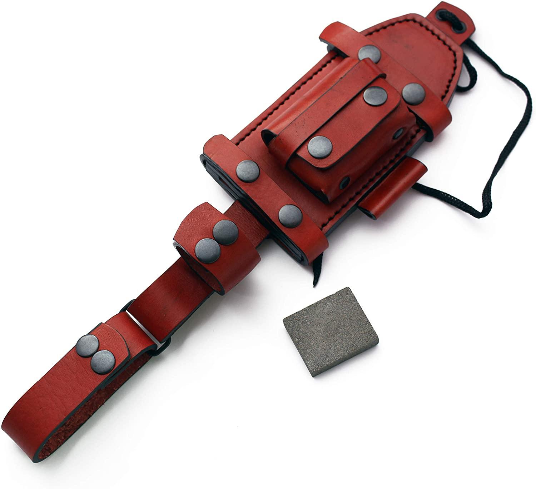 GCS Handmade Brown Bushcraft/Hunter Leather Right/Left Hand Horizontal Knife Knives Sheath - GCS 225