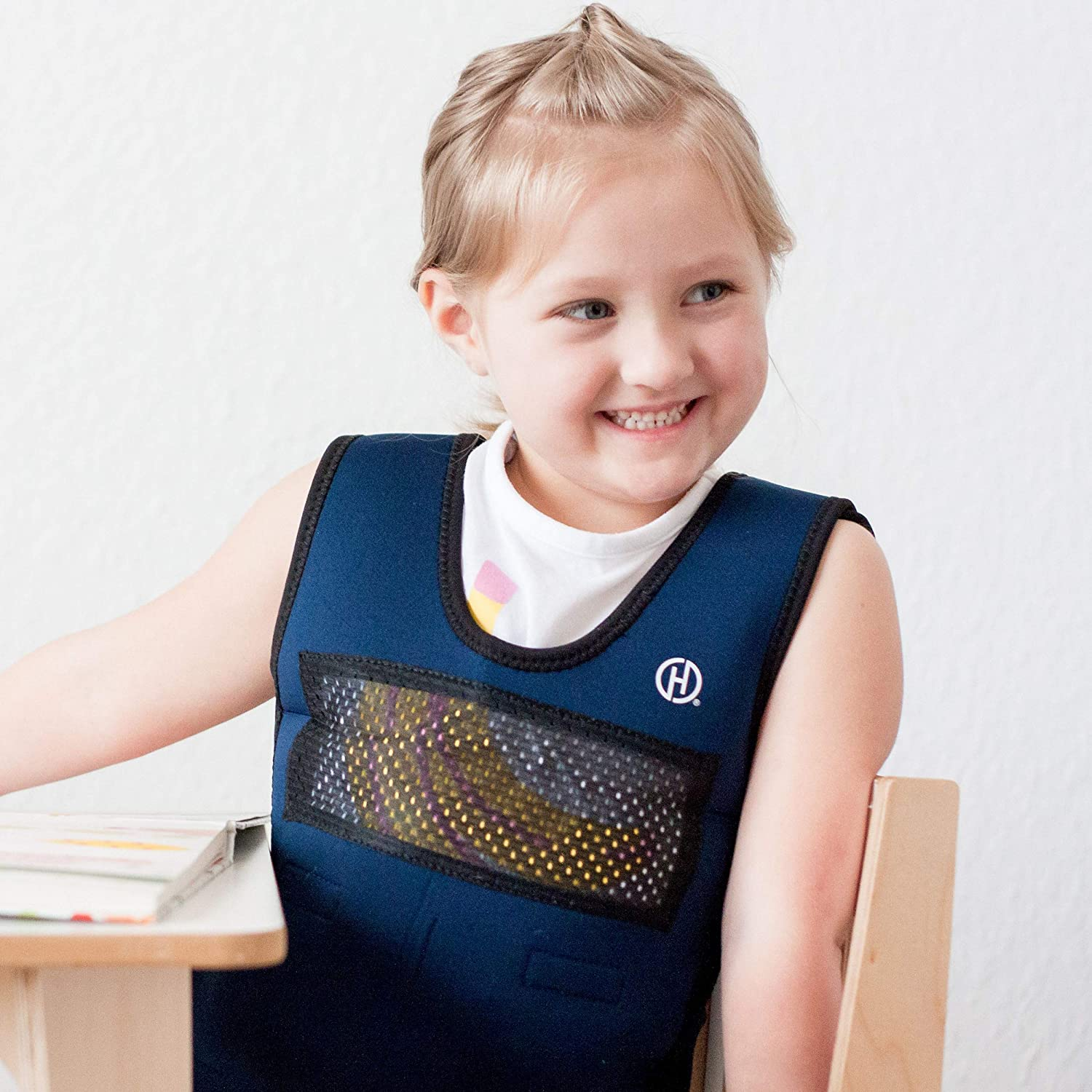 Weighted Compression Vest for Children (Ages 5 to 9) by Harkla - Helps with Autism, ADHD, Mood, Sensory Overload - Weighted Vest for Kids with Sensory Issues
