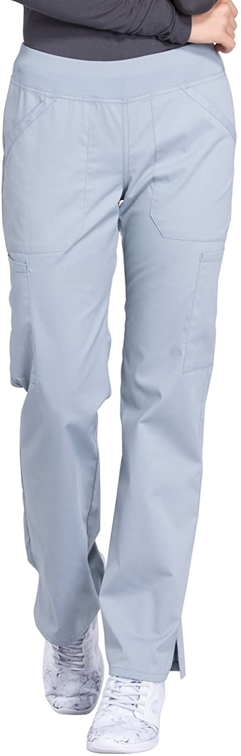 Cherokee Workwear Professionals Mid Rise Straight Leg Pull-on Cargo Scrub Pant, 5XL, Grey