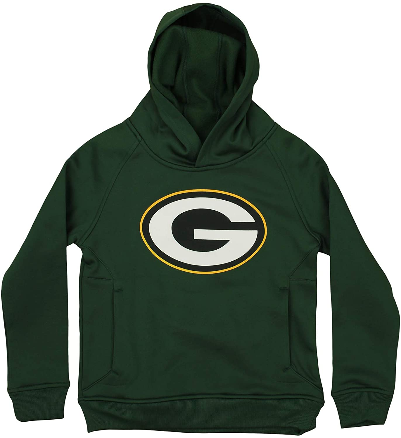 Outerstuff NFL Youth Boys (8-20) Green Bay Packers Performance Team Logo Hoodie