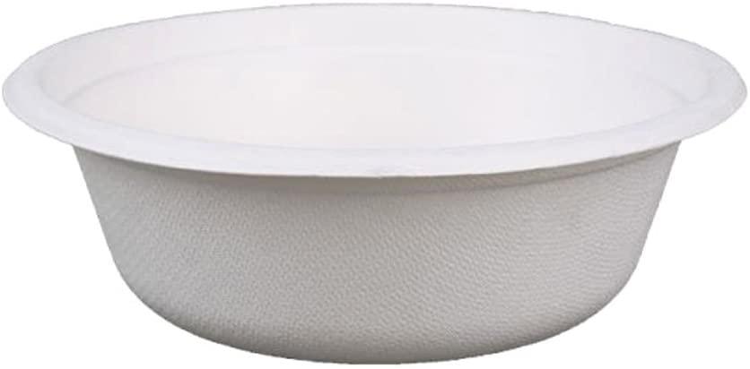 Go-Green Eco-Friendly 100% compostable, Sugarcane Fiber, Disposable 500ml(17oz) Bowl, 1000(20x50) Count