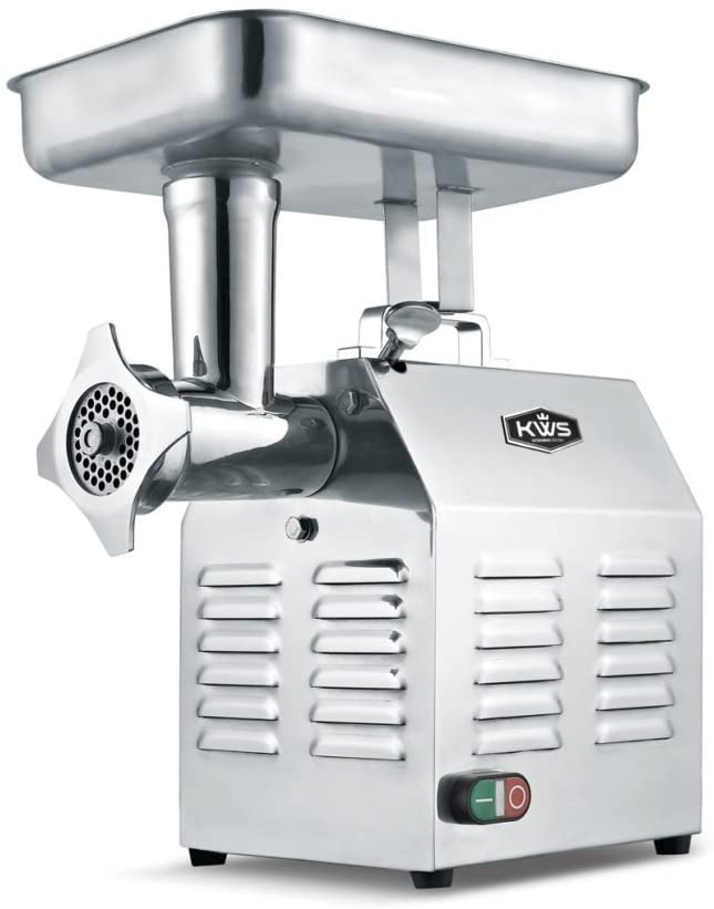 KWS TC-22 Commercial 1200W 1.5HP Electric Meat Grinder Stainless Steel Meat Grinder For Restaurant/Deli/Home