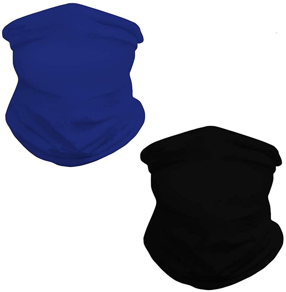 Seamless Bandana Face Mask Neck Gaiter,Scarf Mask Tube Headwear Reusable 2 Pack