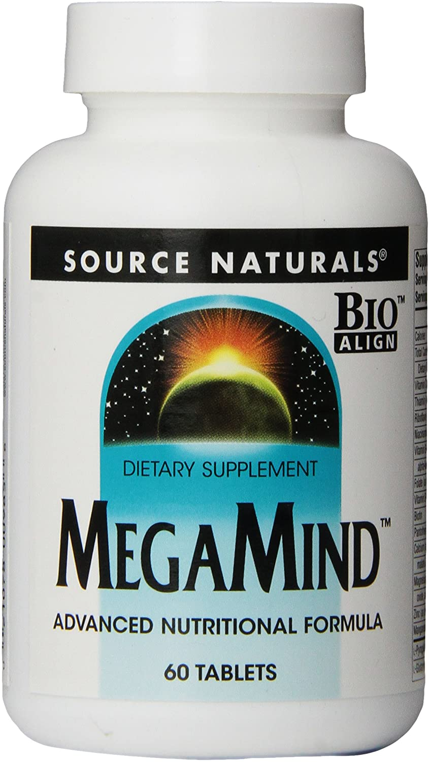 Source Naturals MegaMind Advanced Nutritional Formula & Dietary Supplement - 60 Tablets