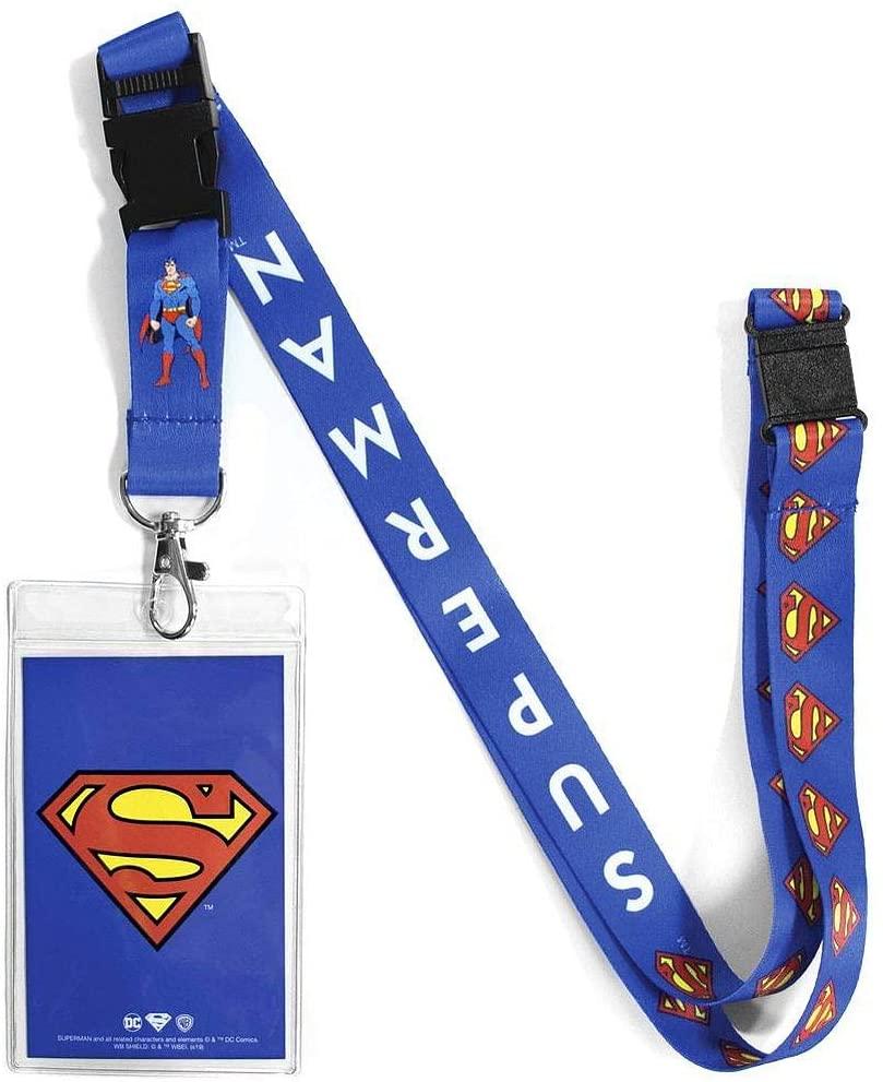 Ata-Boy DC Comics Superman Reversible Lanyard with Breakaway Clip and ID Holder