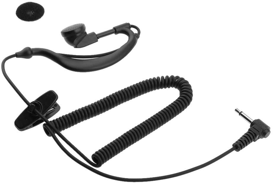 G Shape Soft Ear Hook Earpiece Headset 3.5mm Plug Ear Hook Listen Radio Earpiece/Headset Receiver/Listen Only Earpiece for 2-Way Radio