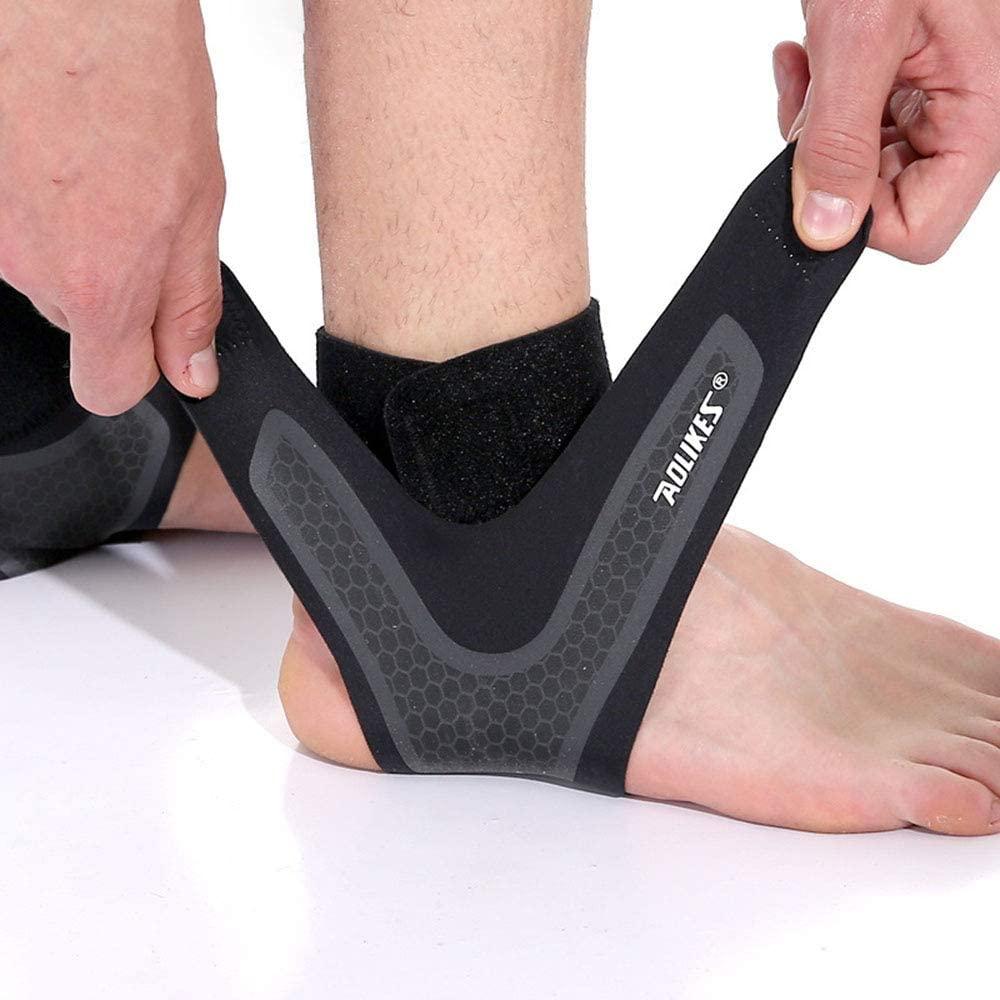 SPOTBRACE Ankle Support for Men and Women - Neoprene Breathable Adjustable Ankle Brace,Elastic Sprain Foot Sleeve for Plantar Fasciitis, Running, Basketball-1 Pair