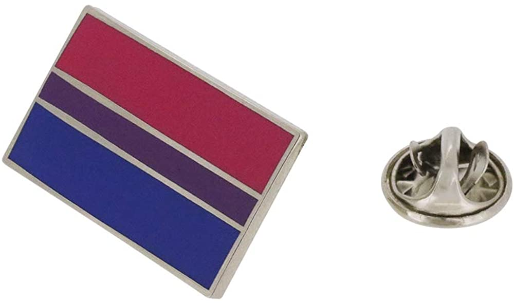 Bisexual Pride Standard Rectangle Flag LGBTQIA+ Enamel Pin - 5 Pins