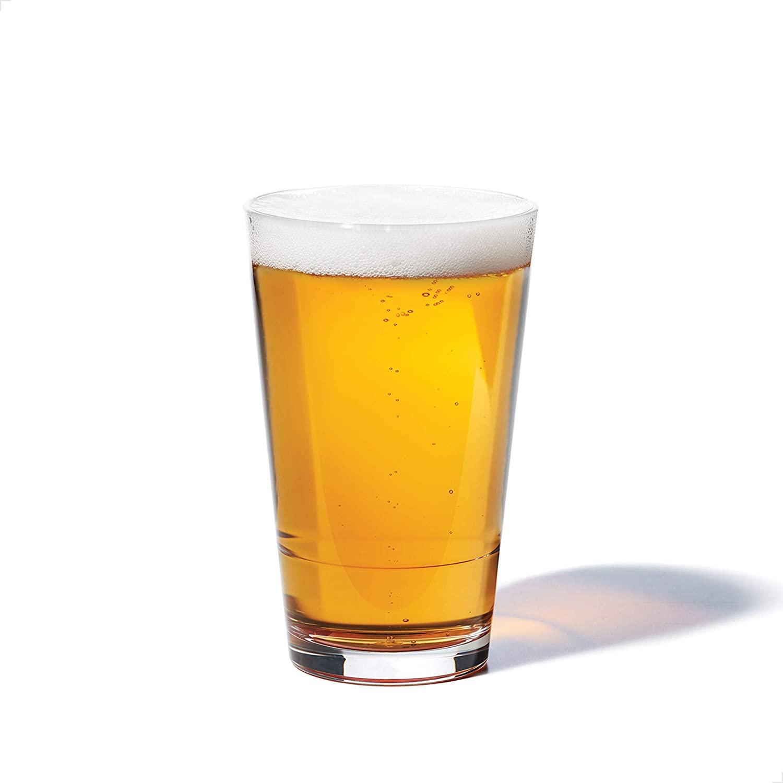 TOSSWARE RESERVE 16oz Pint SET OF 4, Tritan Dishwasher Safe & Heat Resistant Unbreakable Plastic Beer Glasses