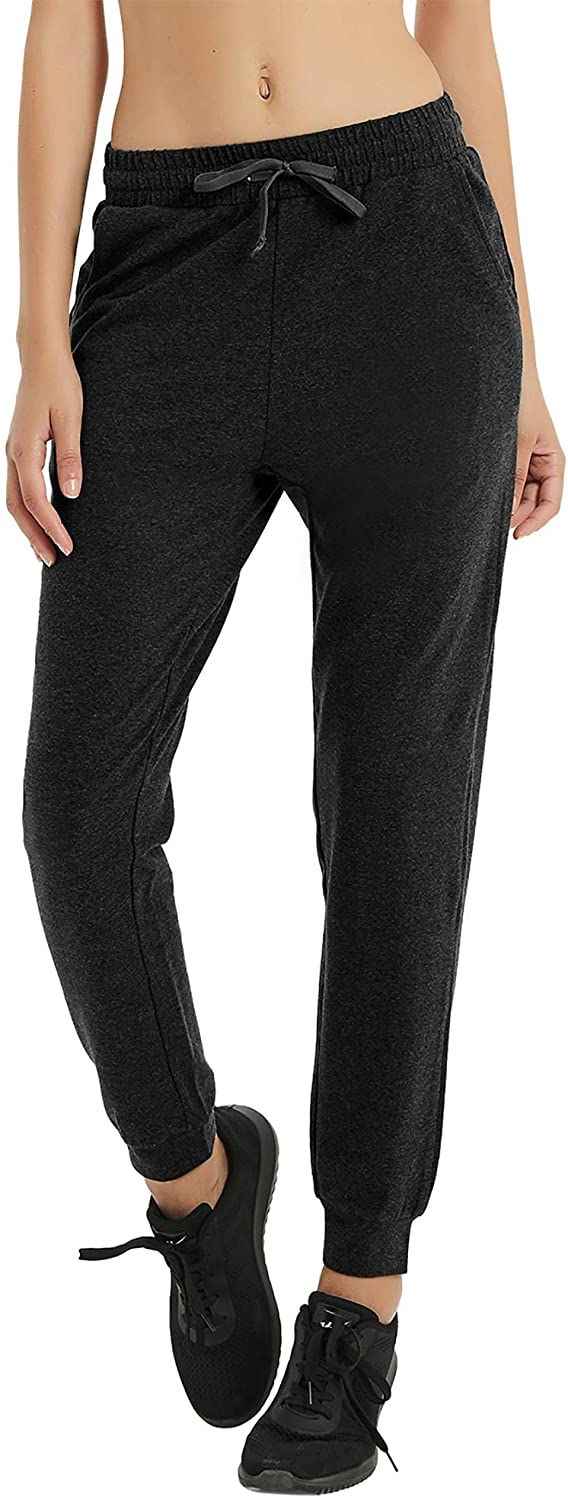 RlaGed Women's Yoga Running Pants Lounge Workout Joggers Sweatpants with Pockets