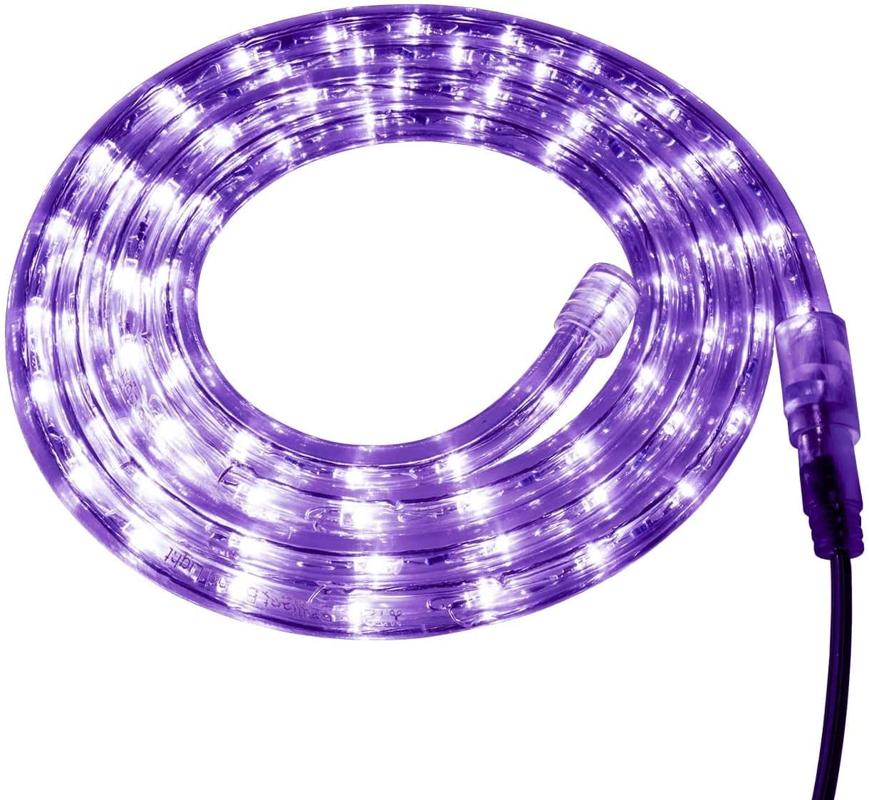 Brilliant Brand Lighting Purple LED Rope Light - 120 Volt - Custom Cut - 1.64 Feet