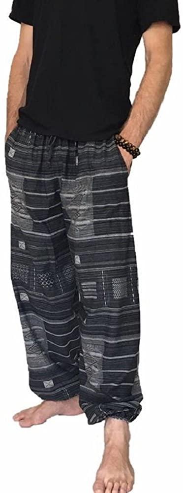 Love Quality Baggy Pants Men's One Size Printed 100% Cotton Harem Pants Hippie Boho