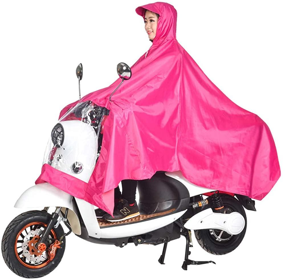 Waterproof Rain Poncho, Unisex Poncho Outdoors Bike Ebike Motorcycle Scooter Cycling Jacket Raincoat Cape,Poncho Full Protection with Visor,Size XXXXL