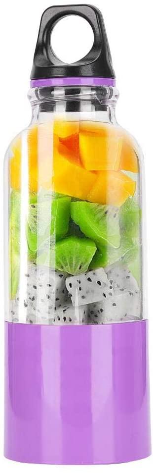 500ML Smoothie Blender Mixer Bottle, Fruit Juicer Vegetable Juicer Automatic Tool Juicer Bottle, Portable for Sports for Outdoor Travel Agency(purple)
