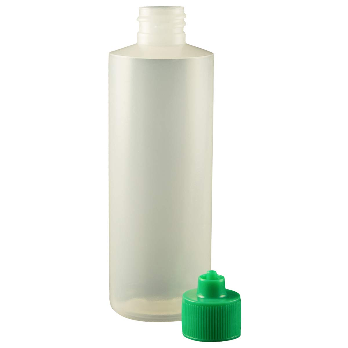 Jensen Global JG4.0BC-G Green 4 oz Cylinder Bottle & Cap Kit Bag of 10